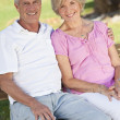 Happy Senior Couple Smiling Outside in Sunshine — Stock Photo #6486940