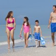 Mother, Father and Children Family Having Fun At Beach — Stock Photo #6486953