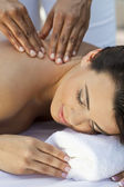 Woman At Health Spa Having Relaxing Massage — Stock Photo