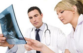 Concerned Doctor and Nurse — Stock Photo