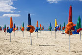 Colorful Parasols on Deauville Beach, Normandy, France, Europe — Stock Photo