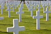 Cimitero americano di colleville-sur-mer omaha beach normandia francia — Foto Stock