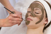 Chocolate Face Mask — Stock Photo