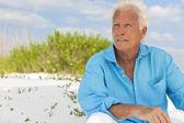 Outdoor Portrait of An Attractive Handsome Senior Man — Stock Photo