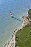 Aerial Photograph of Lighthouse at Beachy Head, East Sussex, Eng — Stock Photo