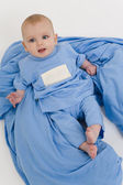 Baby in Blue Pajamas — Stock Photo