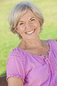 Attractive Smiling Senior Woman — Stock Photo