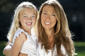 Mother With Daughter Having Fun In A Park — Stock Photo