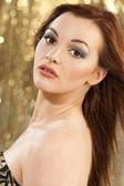 Beautiful Brunette Young Woman — Stock Photo