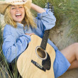Stock Photo: Happy Music In The Dunes