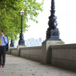 Romantic Couple Holding Hands in London, England — Stock Photo