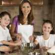 Mother, Son & Daughter Family In Kitchen Cooking Baking — Stock Photo #6673338