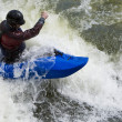 Stock Photo: Whitewater Surfing
