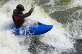 Whitewater Surfing — Stock Photo
