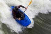Whitewater Surfing Too — Stock Photo