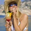 Waterfront Cocktails — Stock Photo