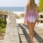 cestou na pláž — Stock fotografie