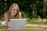 Summertime Laptop — Stock Photo
