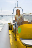 Beauty at the Helm — Stock Photo