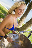 Tropical Drumming — Stock Photo