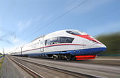 Yüksek hızlı tren. — Stok fotoğraf