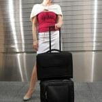 全球亚洲中国女性商务旅行者 — 图库照片