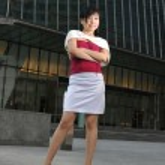 亚洲中国办事处女士办公室前构成 — 图库照片