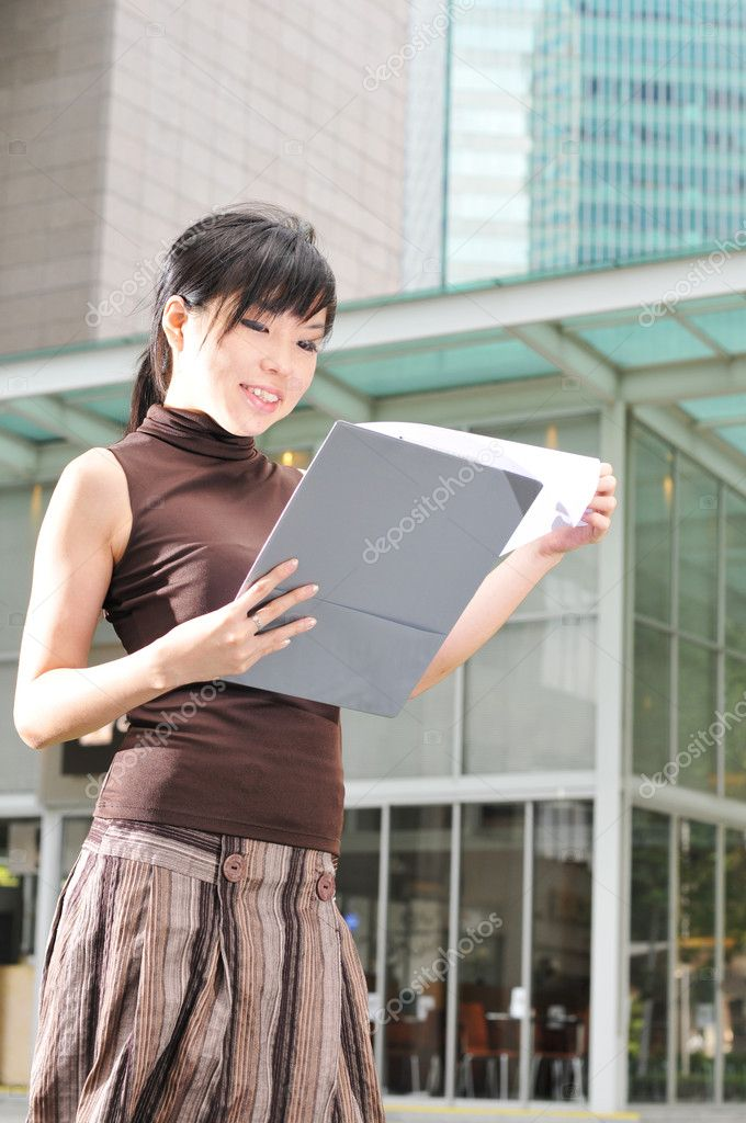 Picture of an office worker  — Stock Photo #6368966