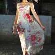 Asian Chinese girl in long flowy dress — Stock Photo