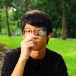 menino chinês asiático ao ar livre — Fotografia Stock  #6542424