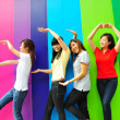 Four Asian Chinese Girls in happy poses — Stock Photo #6542804