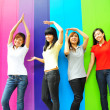 Four asian girlfriends in various poses — Stock Photo #6542807