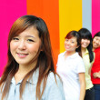 Four asian girlfriends in various poses — Stock Photo #6542847