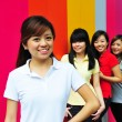Four asian girlfriends in various poses — Stock Photo #6542859