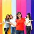 Asian Chinese girls in group poses — Stock Photo #6542877