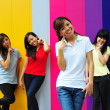 Four Asian Chinese Girls in happy poses — Stock Photo #6542926