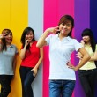 Four Asian Chinese Girls in happy poses — Stock Photo #6542931