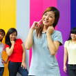 Four Asian Chinese Girls in happy poses — Stock Photo #6542936