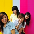 Stock Photo: Four Asian Chinese Girls in happy poses