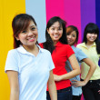 Four Asian Chinese Girls in happy poses — Stock Photo #6543035