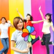 Four asian girlfriends in various poses — Stock Photo #6543530