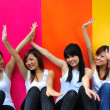Four asian chinese girls in various poses — Stock Photo #6544543