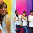 Four asian chinese girls in various poses — Stock Photo #6544670