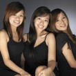 Group of 3 asian chinese girls in various poses — Stock Photo #6547870