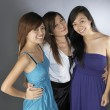 3 teengage asian chinese girls in various poses — Stock Photo #6549530