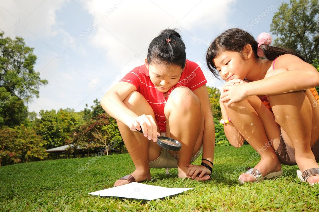 Useful for describing outdoors and fun that children are having — Stock Photo #6542494