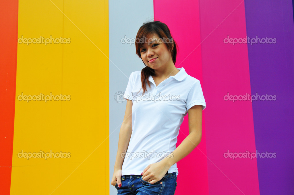 Useful for describing a happy girl — Stock Photo #6543755