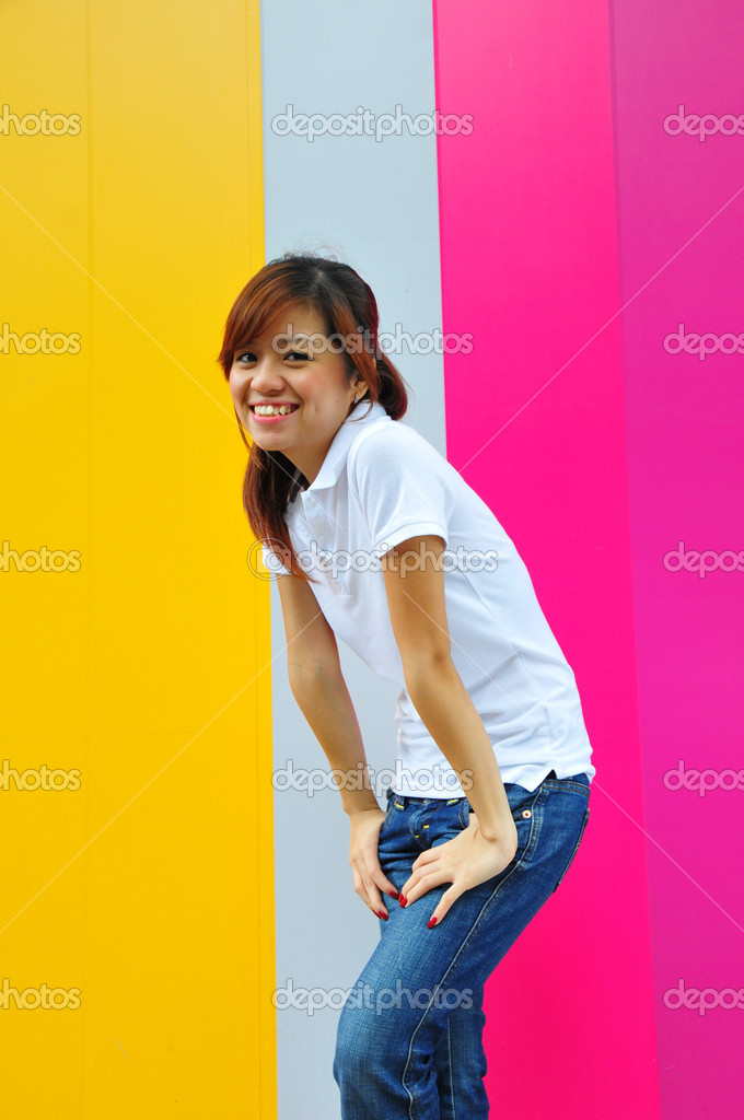 Useful for describing a happy girl — Stock Photo #6543784
