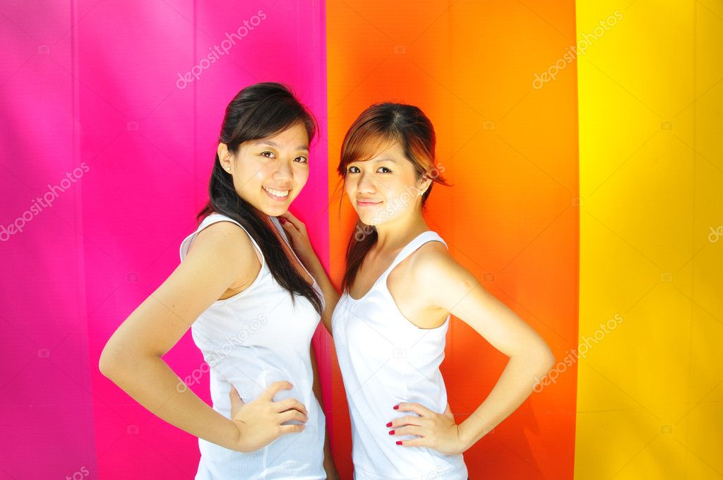 Useful for describing friendship amongst teenage girls — Stock Photo #6544095