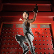 Male Asian Chinese Kungfu fighter in various poses — Stock Photo